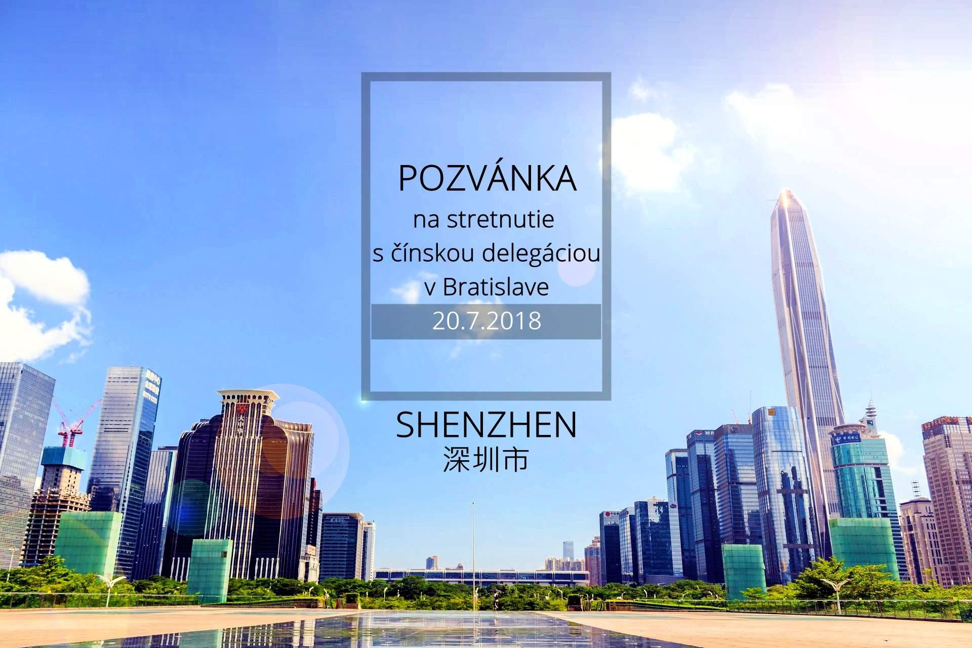 Pozvánka na stretnutie s čínskou delegáciou v Bratislave
